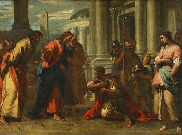 Иисус Христос и Капернаумский сотник....jpg