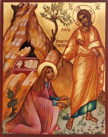 Мария Магдалина и Иисус Христос. Икона (1).jpg