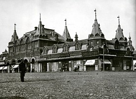 Историческое фото. Верхние торговые ряды на Красногорской площади