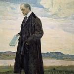 М. В. Нестеров. Мыслитель (Портрет философа И. А. Ильина).<br> Холст, масло. 1921-1922 гг.