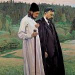 М. В. Нестеров. Философы (С. Н. Булгаков и П. А. Флоренский).<br>Холст, масло. 1917 г.