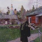 М. В. Нестеров. Вечерний звон.<br>Холст, масло. 1910 г.