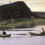 М. В. Нестеров. Молчание.<br>Холст, масло. 1903 г.