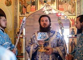 Епископ Фома совершил Литургию на Благовещенском подворье Лавры