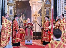 В праздник Светлого Христова Воскресения епископ Фома сослужил Святейшему Патриарху Кириллу