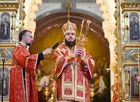 Наместник Лавры сослужил Святейшему Патриарху Кириллу в Храме Христа Спасителя