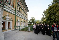 Святейший Патриарх Кирилл ознакомился с ходом ремонтно-реставрационных работ в Троице-Сергиевой лавре