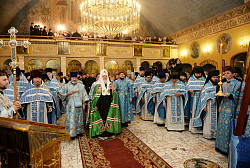 Слово Святейшего Патриарха Кирилла в праздник Покрова Божией Матери в домовом храме Московских духовных школ