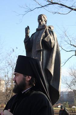 В Минеральных Водах состоялось освящение скульптурного образа преподобного Сергия Радонежского