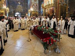 Отпевание иеромонаха Германа (Щепихина) в Свято-Троицкой Сергиевой Лавре