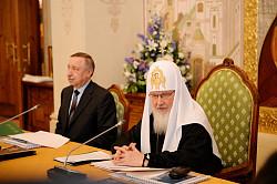 Патриарх Кирилл возглавил заседание Попечительского совета Свято-Троицкой Сергиевой Лавры