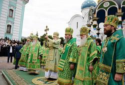 В день памяти преподобного Сергия Радонежского Предстоятель Русской Церкви возглавил Литургию в Троице-Сергиевой лавре