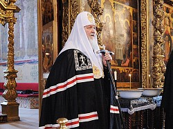 Патриарх Кирилл совершит Литургию Преждеосвященных Даров в Троице-Сергиевой Лавре