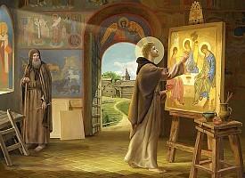 Богословие ви́дения. Икона Пресвятой Троицы преподобного Андрея Рублева