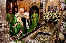 Патриарх Кирилл возглавил в Троице-Сергиевой Лавре праздничные богослужения накануне дня памяти преподобного Сергия Радонежского