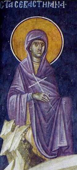 Память святой мученицы Севастианы