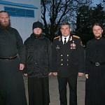 Братия Лавры с героем России Владимиром Карпушенко в 810 Бригаде Морской пехоты в городе-герое Севастополе