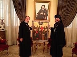 Иконописцы Московской духовной академии написали для монастыря Св. равноап. Феклы в Сирии икону Дамасских святых