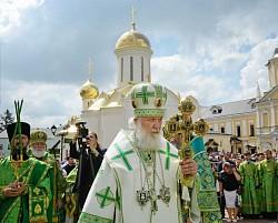 Патриарх Кирилл возглавил в Троице-Сергиевой лавре празднование обретения честных мощей преподобного Сергия Радонежского