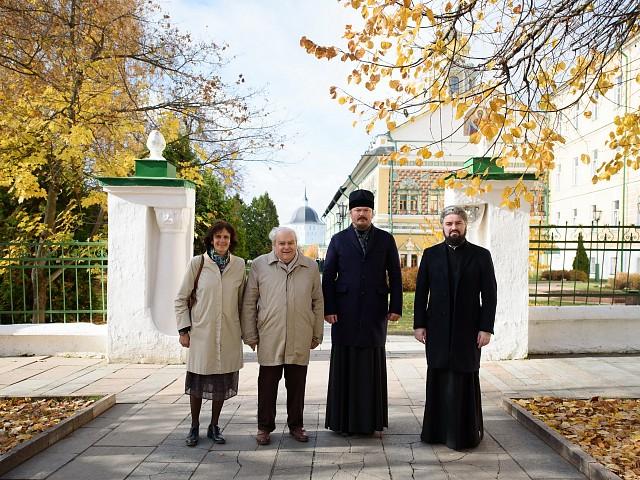 Епископ Корсунский Нестор и директор французской ассоциации «Русский дом» Иван де Буаю посетили Троице-Сергиеву лавру и Московскую духовную академию