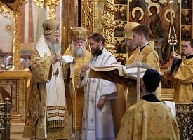 Архиепископ Феогност рукоположил за Литургией в Лавре насельника обители иеродиакона Пафнутия (Фокина) в сан иеромонаха