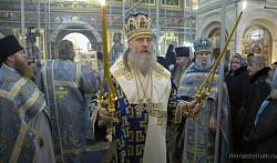 Архиепископ Феогност возглавил в Зачатьевском монастыре празднование иконе Богоматери «Милостивая»