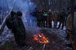 Курсанты Центра «Пересвет» познакомились с новым инструктором и изучили способы разведения костров и поддержания огня