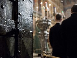 Духовенство Лавры совершило традиционный воскресный акафист преподобному Сергию