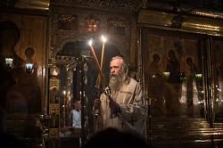 Архиепископ Феогност совершил Литургию в день памяти преподобного Феодосия Великого в Троицком соборе Лавры