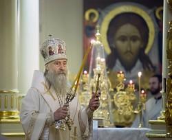 Архиепископ Феогност возглавил Литургию в Кресто-Воздвиженском Иерусалимском монастыре