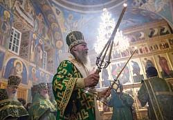 В день памяти преподобных Кирилла и Марии архиепископ Феогност совершил Литургию в Покровском женском монастыре в Хотьково (ВИДЕО)