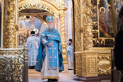 В Обители преподобного Сергия молились за службами Божией Матери в честь Её иконы «Взыскание погибших»