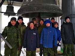 Курсанты Центра «Пересвет» посетили с экскурсией Лаврскую колокольню