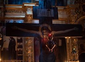 Первая Пассия прошла в Успенском соборе Свято-Троицкой Сергиевой Лавры.