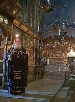 Архиепископ Феогност совершил Литургию в Троице-Сергиевой Лавре