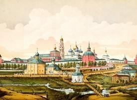 Члены императорской семьи посетили Троице-Сергиеву Лавру