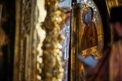 Братия Лавры молилась на Литургии Преждеосвященных Даров в среду 6-й седмицы Великого поста