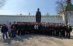 На Светлой седмице Троице-Сергиеву Лавру посетили офицеры и курсанты Черноморского ВВМУ имени П.С. Нахимова
