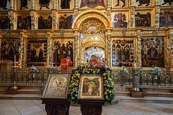 Лавра молитвенно почтила память великомученика Георгия Победоносца
