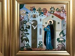 В Лавре стали изготавливать керамические плитки с изображением преподобного Сергия Радонежского