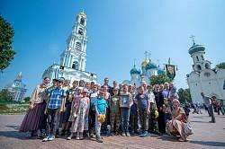 Ученики воскресной школы Новоспасского монастыря посетили Лавру