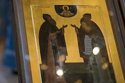 В Лавре молитвенно почтили праздник в честь иконы Богоматери «Троеручица» и преподобных Сергия и Германа Валаамских