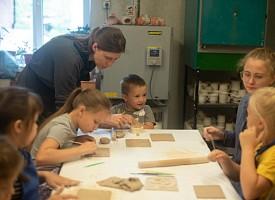 В преддверии Преображения Русский Дворец Интересов провел мастер-класс по керамике