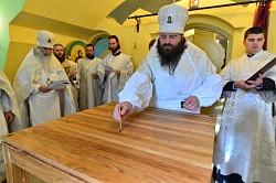 Епископ Парамон освятил храм в Боголюбской Киновии