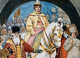 Встреча царя Михаила Феодоровича Романова в Троицком монастыре