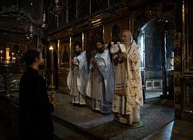 Архиепископ Феогност совершил Литургию в сослужении братии Лавры в день памяти благоверного великого князя Димитрия Донского