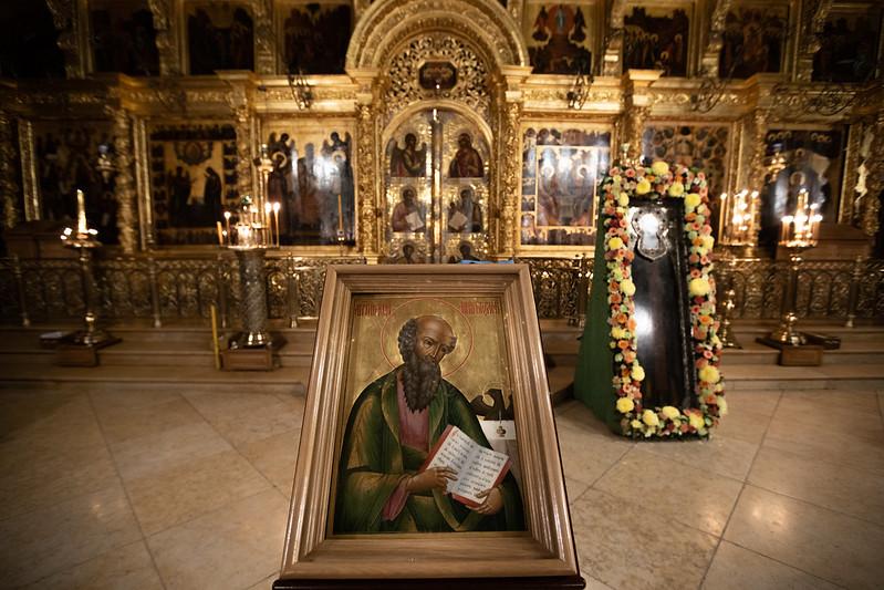 В Лавре почтили память апостола любви — евангелиста Иоанна Богослова