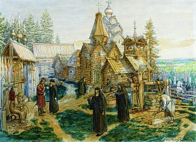 Основание Троицкого монастыря преподобным Сергием Радонежским