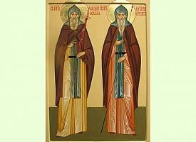 Преподобные Александр Пересвет и Андрей Ослябя, ученики преподобного Сергия