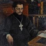 М. В. Нестеров. Портрет неизвестного священника (С. Н. Дурылин).<br>Холст, масло. 1926 г.
